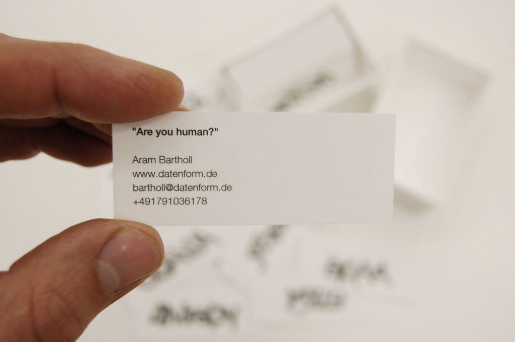 Aram Bartholl, Are you human?