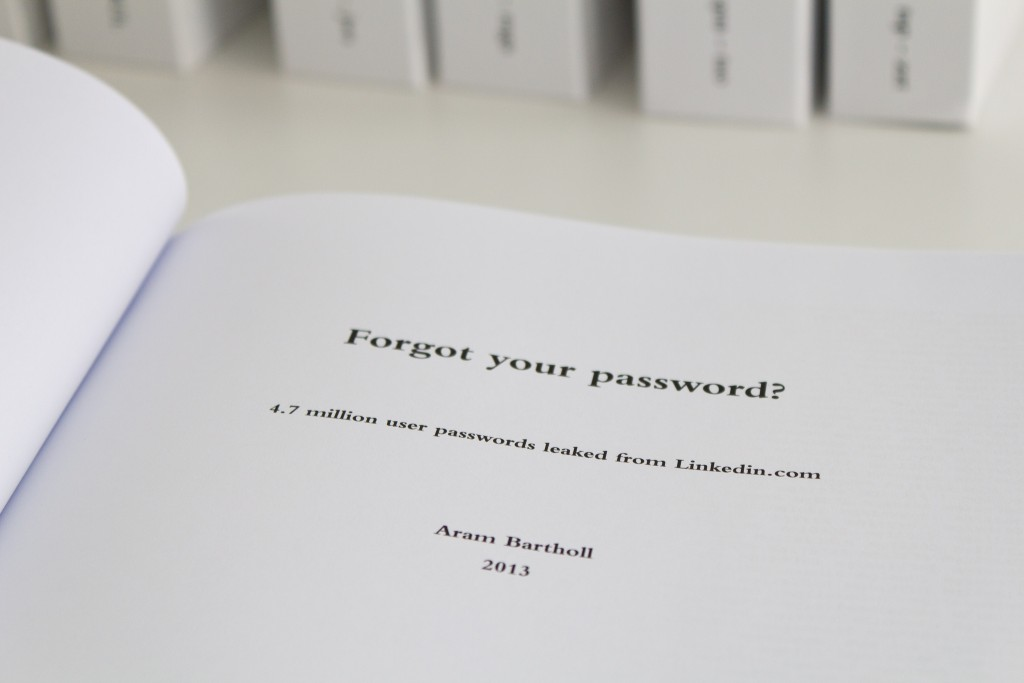 Aram Bartholl, Forgot Your Password?