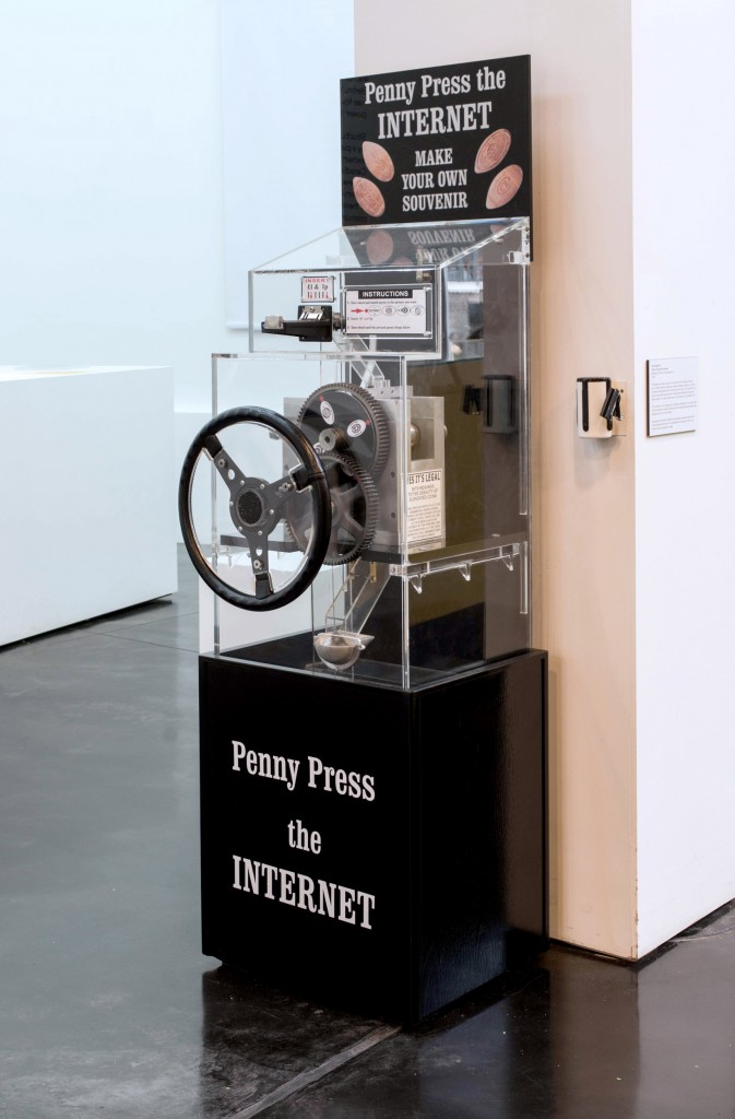 Aram Bartholl, Penny Press The Internet