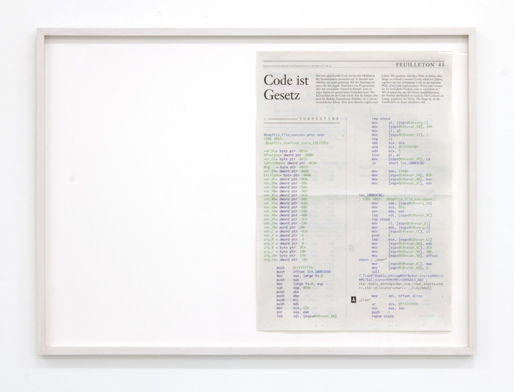 Aram Bartholl, How To Turn Code Into Art
