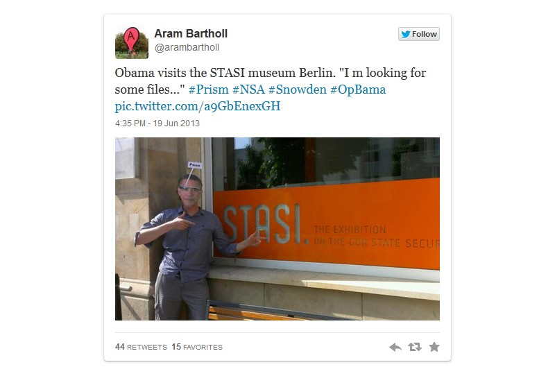 Aram Bartholl, #OpObama
